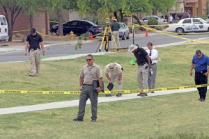 Photo of a crime scene in Maricopa, Az.